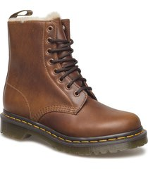 serena shoes boots ankle boots ankle boots flat heel brun dr. martens
