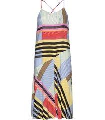 dress w. spaghetti straps in ecover knälång klänning multi/mönstrad coster copenhagen