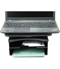 mind reader 2 tier swivel top file organizer, document organizer