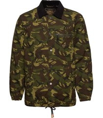 supersonic canvas coach jacket bomberjacka jacka grön superdry