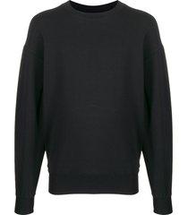 alchemy relaxed-fit crew neck sweatshirt - black