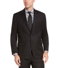 izod men's classic-fit black solid suit jacket