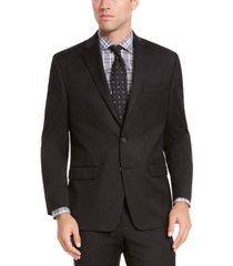 izod men's classic-fit black solid suit jacket