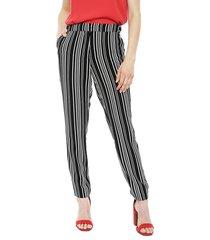 pantalón ash fantasía líneas blanco/ negro - calce ajustado