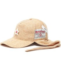ceramic star tie herringbone tweed baseball cap