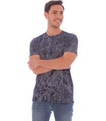 camiseta casual estampado tropical - hombre