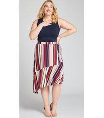 lane bryant women's striped asymmetrical skirt 18 multi stripe
