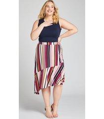 lane bryant women's striped asymmetrical skirt 28 multi stripe