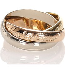 cartier les must de classic trinity ring gold, silver sz: