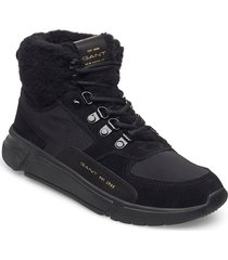 cocoville mid lace boot shoes boots ankle boots ankle boot - flat svart gant