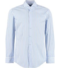 hugo boss spread collar cotton shirt