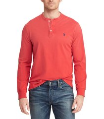 polera hombre cotton jersey henley rojo polo