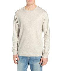 men's frame slim fit long sleeve crewneck t-shirt, size small - beige