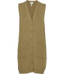 objedith knit waistcoat vests knitted vests grön object