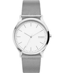 skagen men's jorn stainless steel mesh watch 41mm