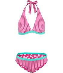 bikini reversibile all''americana (set 2 pezzi) (verde) - bpc bonprix collection