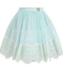 elie saab aqua green skirt for girl