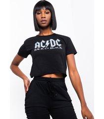akira ac dc back in black cropped t shirt