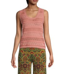 m missoni women's perforated knit top - canyon clay - size 40 (4)