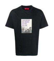 424 camiseta com estampa de logo - preto