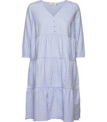 estacr dress knälång klänning blå cream