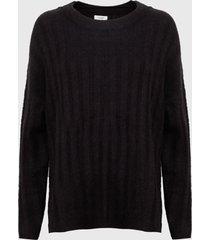 sweater jacqueline de yong niñe negro - calce holgado