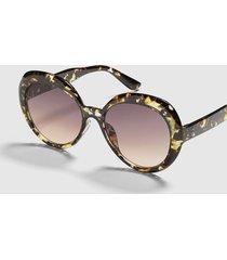 lane bryant women's oversized beveled round sunglasses no black