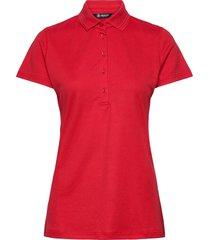 lds clark polo t-shirts & tops polos röd abacus