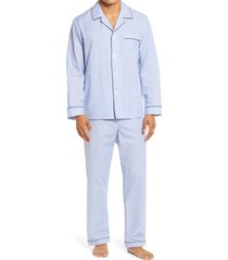 men's majestic international pack well easy care pajamas, size small - blue