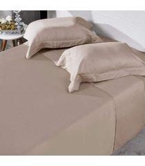 jogo de cama 300 fios casal 100% algodã£o penteado toque acetinado fronha com abas   - tessi -  - dafiti
