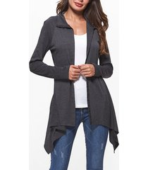 asymmetric raglan sleeve button up coat