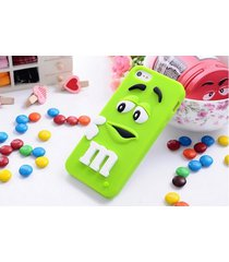 m&m's chocolate cute candy rubber soft silicone cartoon case covers for iphone 6