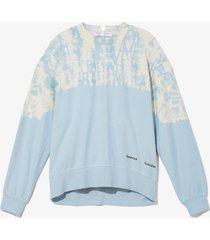 proenza schouler white label dotted tie dye sweatshirt /blue l
