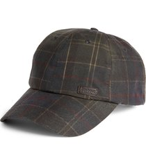 men's barbour darwen tartan baseball cap -