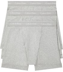 calvin klein 3-pack boxer briefs, size x-large in heather grey at nordstrom