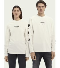 scotch & soda born to love unisex organic cotton long-sleeved t-shirt