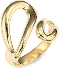 cherish 18k yellow gold small bypass ring