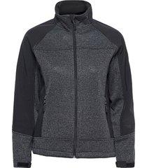 lana lds softshell jkt outerwear sport jackets grå weather report