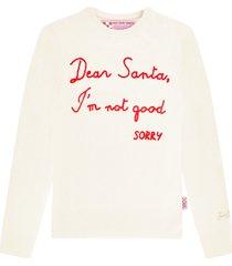 mc2 saint barth christmas white woman sweater - xmas collection