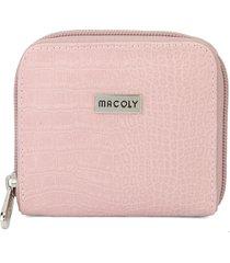 billetera mini a012 lagarto palo de rosa