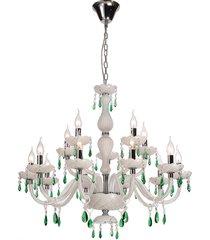 lustre de cristal 15 lâmpadas boyle