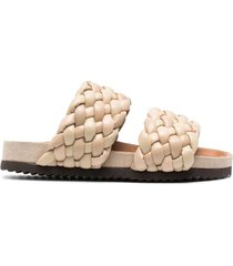 paul warmer braided straps sandals - beige