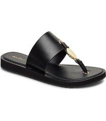 yilania shoes summer shoes flat sandals svart aldo