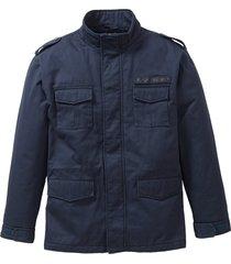 giacca con stampa sulla schiena regular fit (blu) - john baner jeanswear