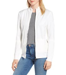 women's canada goose windbridge zip front sweater jacket, size x-large - white