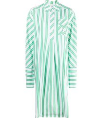 ganni striped long dress