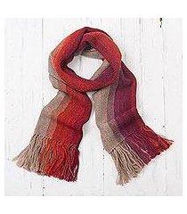 100% alpaca scarf, 'mesa stripes' (peru)