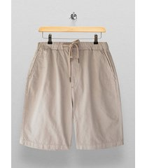 mens cream mushroom brown woven long length shorts