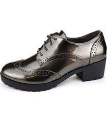 zapato oxford yuta gris chalada