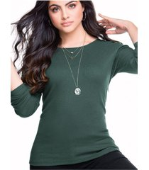 blusa para mujer verde militar mp